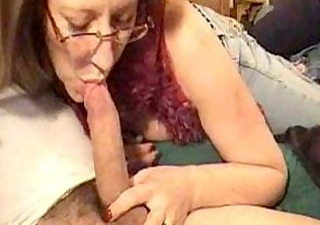 mature woman sucking long schlong